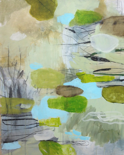 Vårbäck i. akryl, 2013. 4.000:- såld